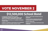 Vote November 2 on $12,500,000 school bond
