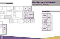 Graphic showing floorplan development for classroom addition